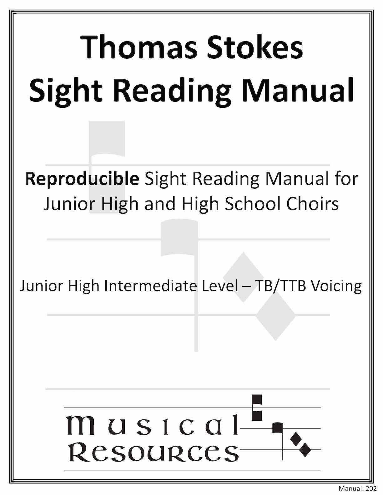 Picture of (Digital) Thomas Stokes Sightreading Manual #202 - TB/TTB Junior High Intermediate