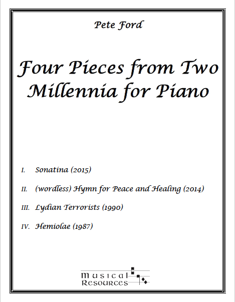 Picture of Four Pieces from Two Millennia for Piano