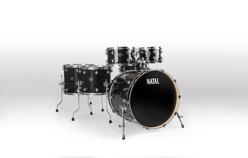 Natal Drums, Arcadia UF22 FULL Kit Transparent black