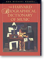 Harvard University Press, Harvard Biographical Dictionary of Music