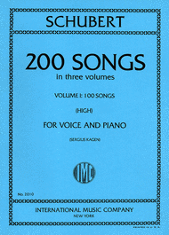 Picture of 200 Songs - High Voice, Vol. I