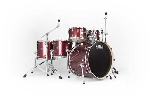 Natal Drums, Arcadia UFX Full Kit Red Sparkle