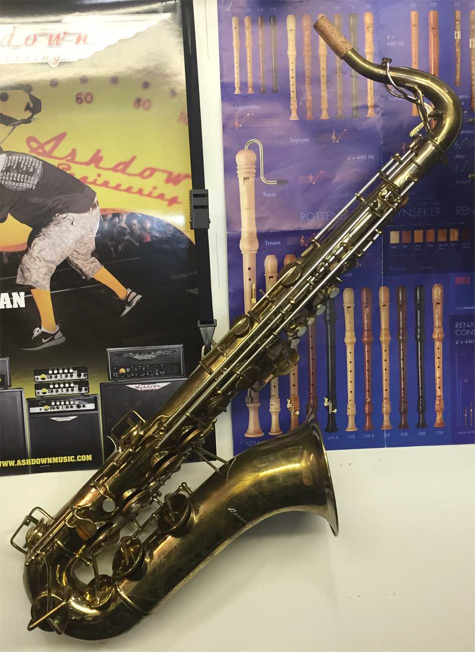 Beuscher 400 Tenor Sax Top Hat and Cane