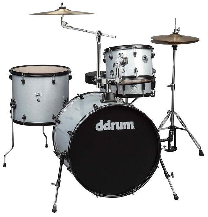 Ddrum, Ddrum D2 Rock Series Drum Set, Silver Sparkle
