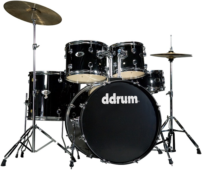 Ddrum, Ddrum D2 Series Drum Set, Midnight Black