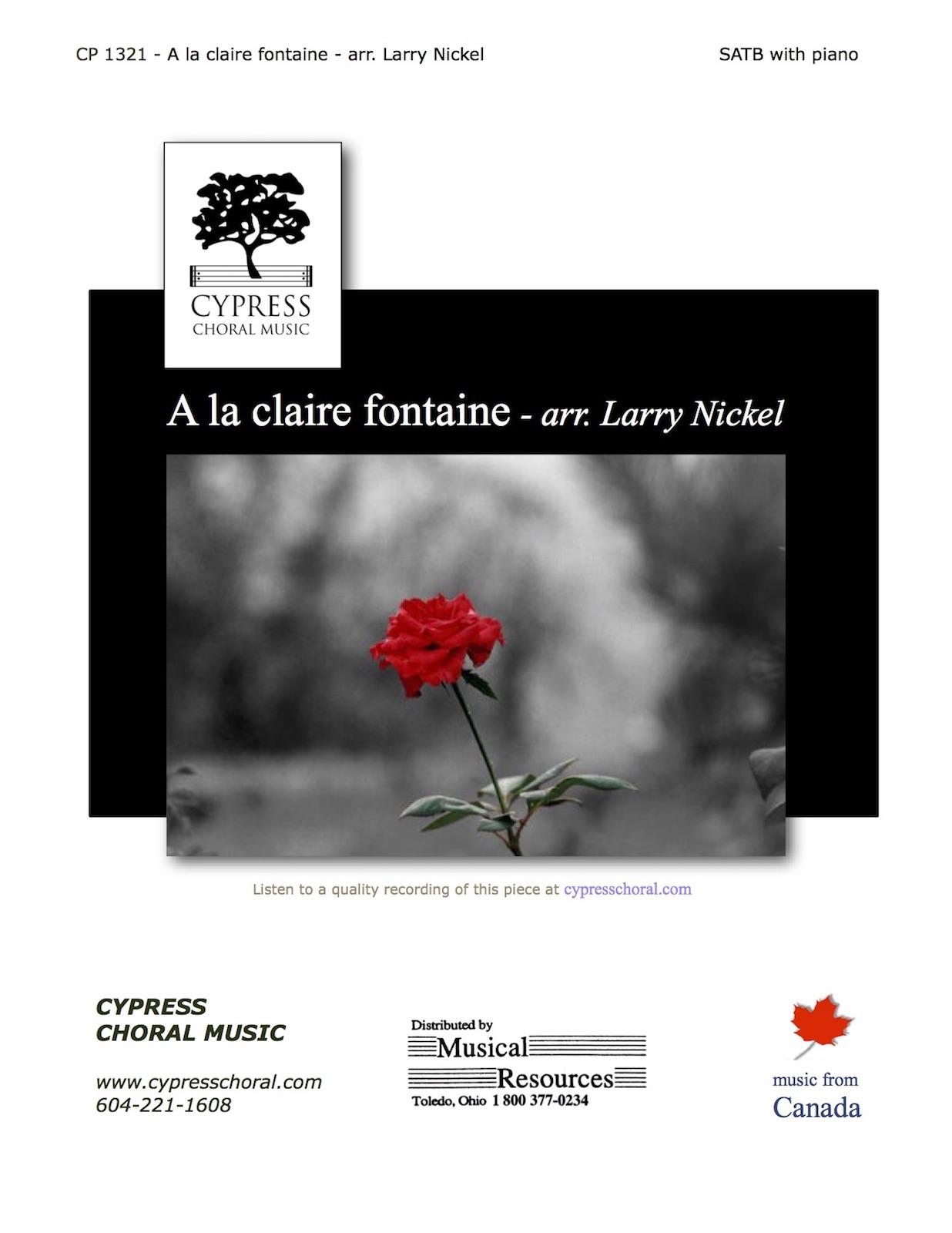 Picture of A la Claire Fontaine