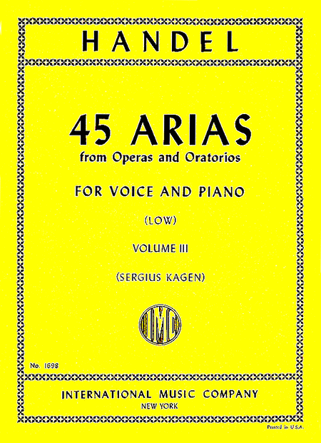 Picture of 45 Arias - Low Voices, Vol. 3