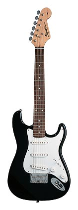 Squier, Mini, Rosewood Fretboard, Black
