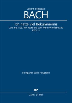 Picture of Cantata 21: Ich hatte viel Bekümmernis - Vocal Score