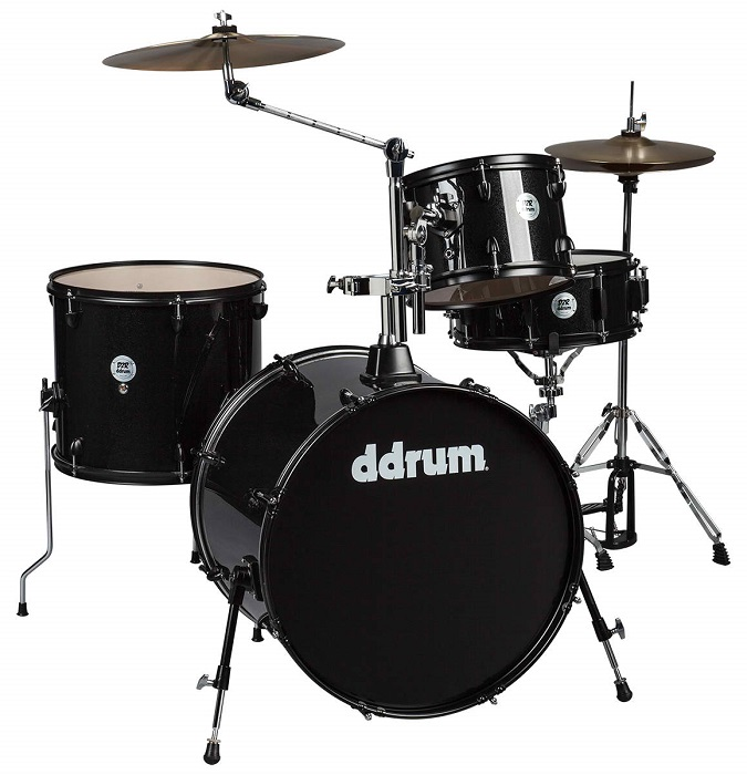 Ddrum, Ddrum D2 Rock Series Drum Set, Black Sparkle