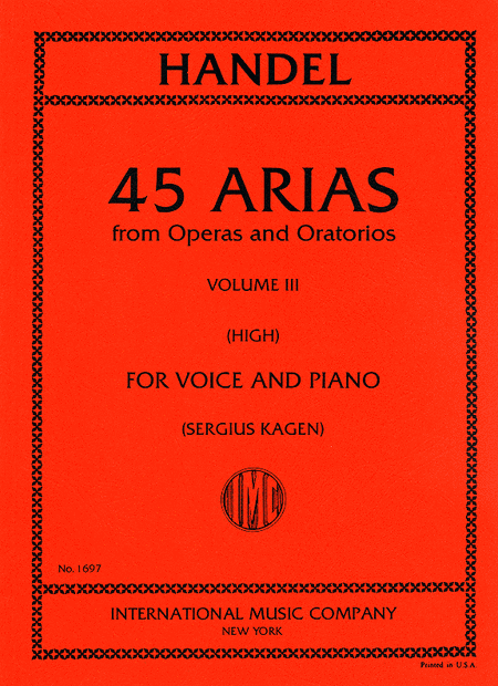 Picture of 45 Arias - High Voice, Vol. 3