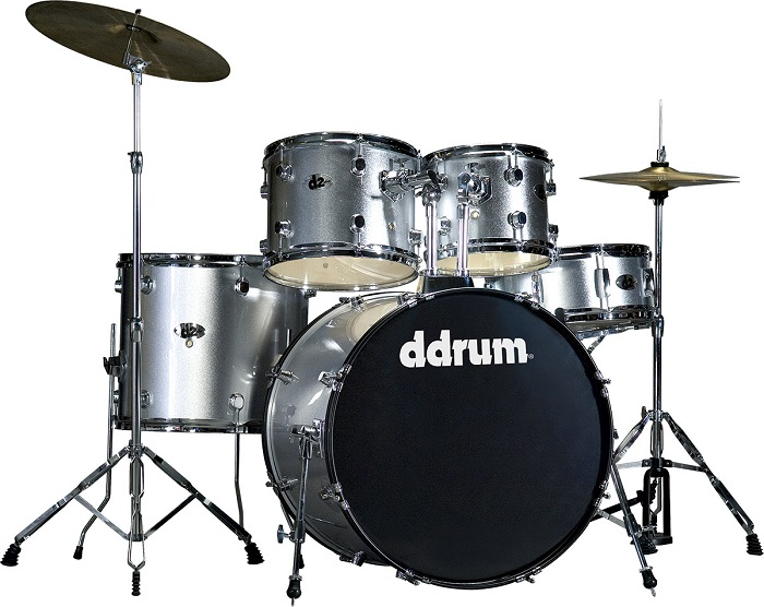 Ddrum, Ddrum D2 Series Drum Set, Brushed Silver