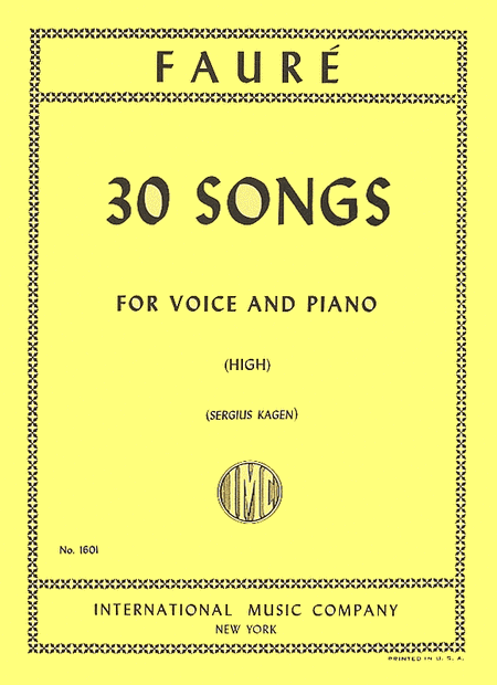 Picture of 30 Songs - High Voice