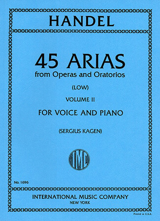 Picture of 45 Arias - Low Voice, Vol. 2