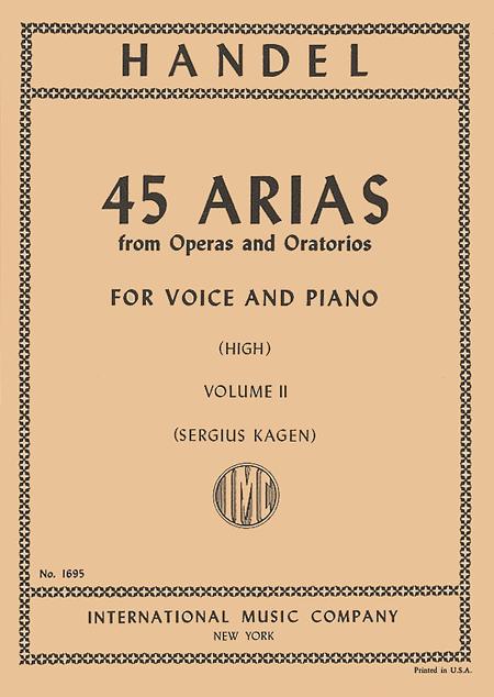Picture of 45 Arias - High Voice, Vol. 2