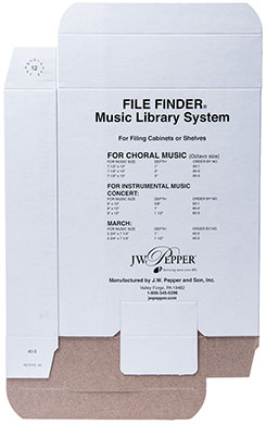 """Picture of Music Filing / Storage Box 5/8"""" Instrumental"""