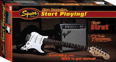 Squier, Squier by Fender Stop Dreaming, Start Playing� Set: Affinity Strat� Special with Fender Frontman Amp� 15G, Black