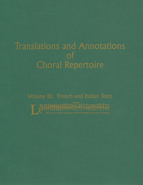 Picture of Translations & Annotations Vol. 3 - French and Italian (hardbound)