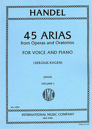 Picture of 45 Arias - High Voice, Vol. 1