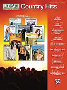 Picture of 10 for 10 Sheet Music: Country Hits 2008 Edition [Piano/Vocal/Chords]